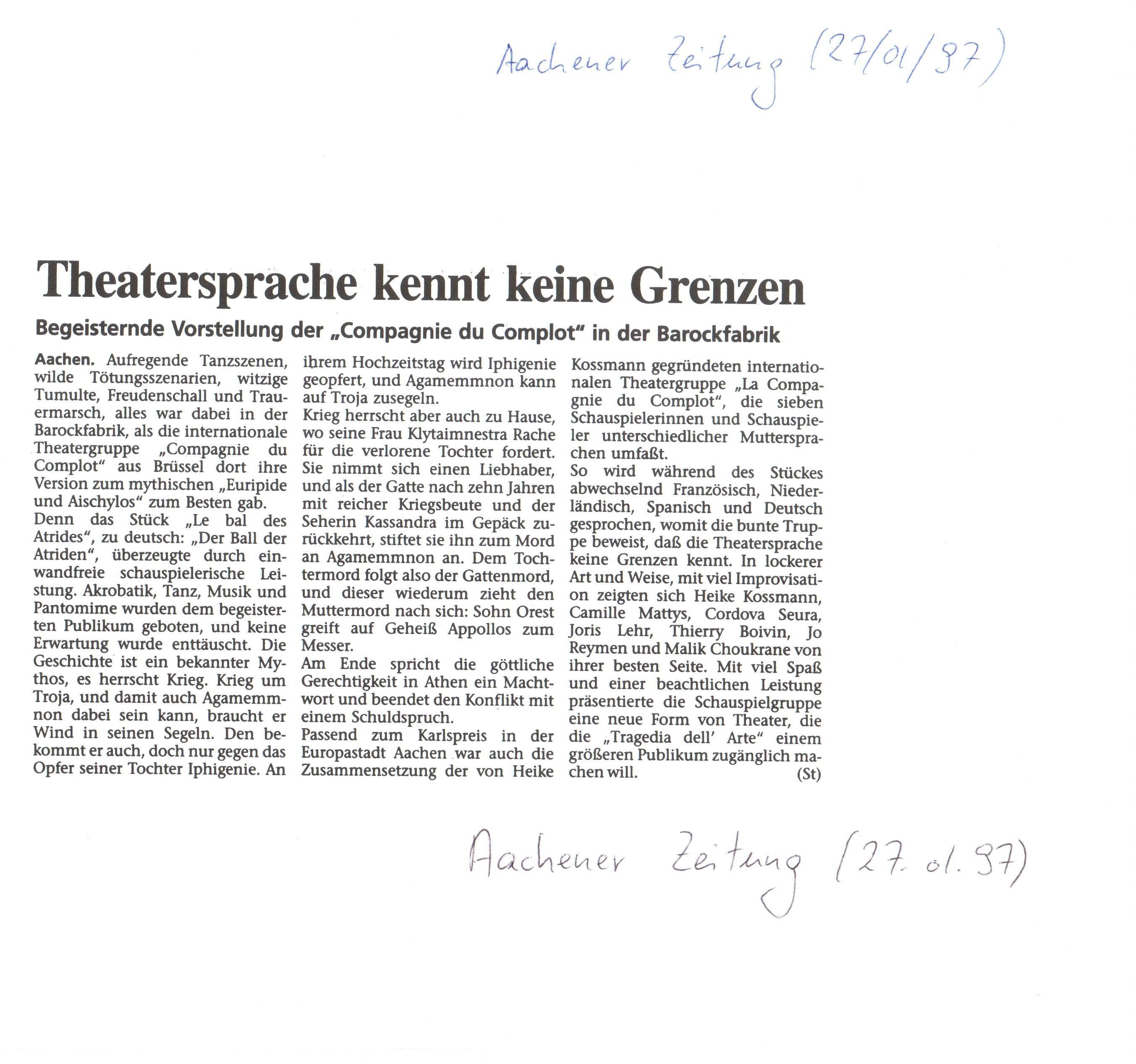 7) Aachener Zeitung